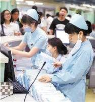 宁波市第一医院忙碌的医务人员
